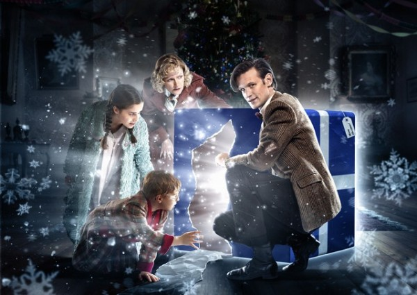 Holly-Earl-Claire-Skinner-Matt-Smith-and-Maurice-Cole-in-DOCTOR-WHO-The-Doctor-the-Widow-and-the-Wardrobe-Christmas-Special-600x425