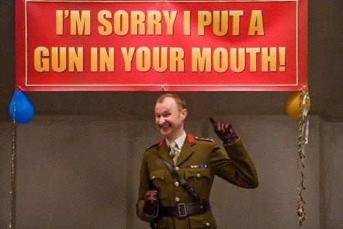 Mark Gatiss in Clone, a BBC3 comedy