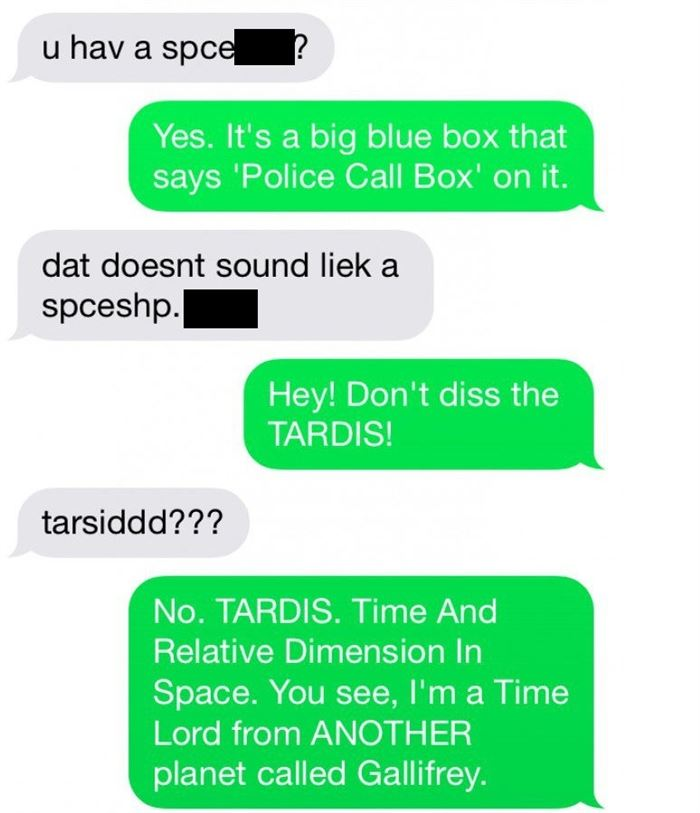 This Is What Happens When Someone Drunk Texts A Dr. Who Fanatic (2/6)
