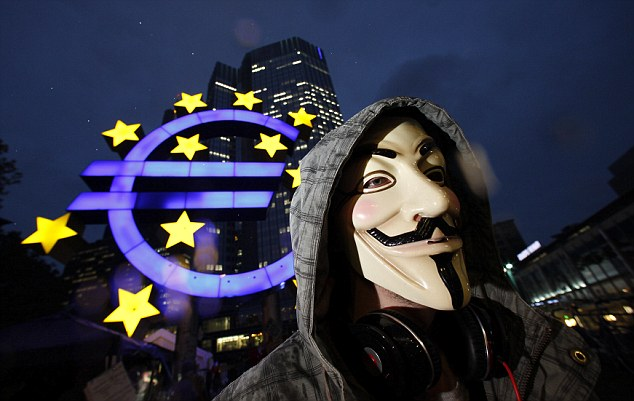 Protesters Camp Out In Front Of European Central Bank