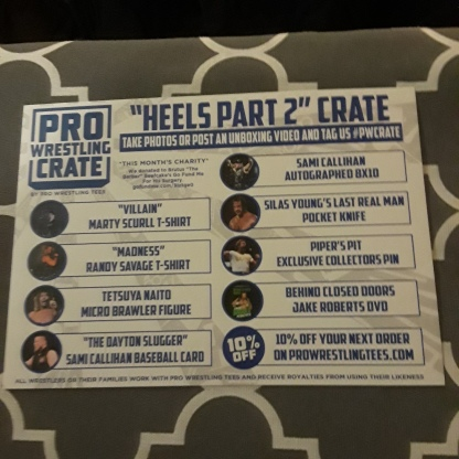 Pro Wrestling Crate july 2018 2