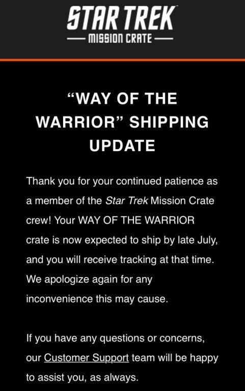Star Trek crate update