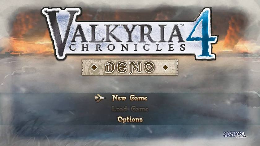 valkyria chronicles 4 demo title